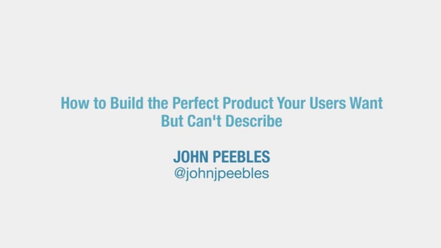 Build the Perfect Product Your Users Want But Can't Describe